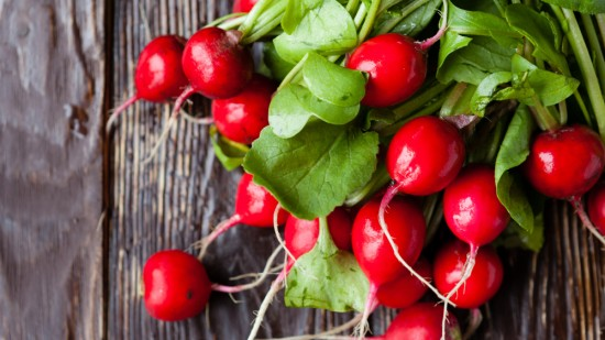 Radishes have an acquired peppery taste