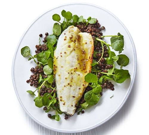 honey-orange-roast-sea-bass-with-lentils